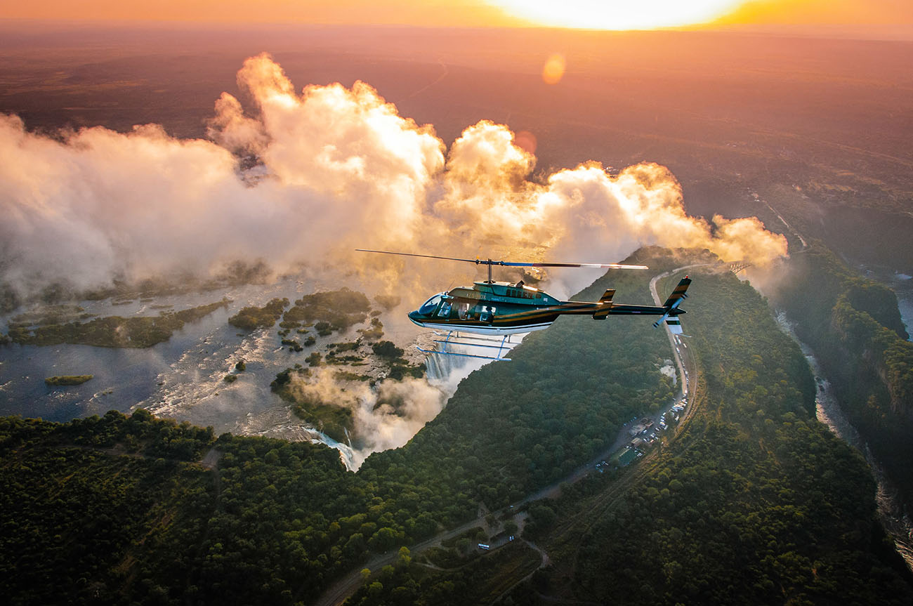 victoria falls helicopter tours